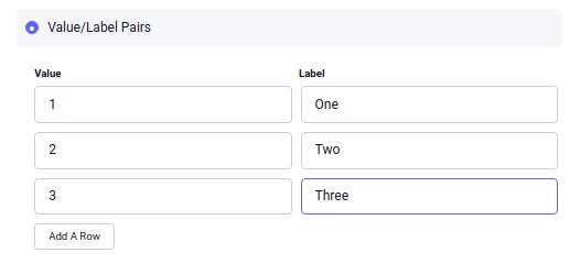 Checkboxes, Radio Buttons, Select, and Multiselect Fieldtypes